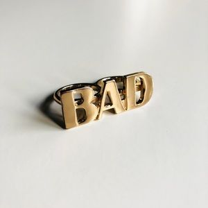 """Jewelry - """"BAD"""" Double Ring"""